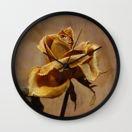 The last yellow autumn rose Wall Clock