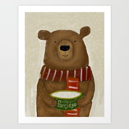breakfast for bears Art Print