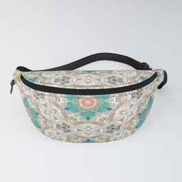 Charcoal Flowers Fanny Pack
