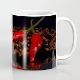 hot chili and coffee beans Coffee Mug