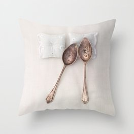 The Art of Spooning Throw Pillow