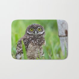 Burrowing Owl Portrait Bath Mat