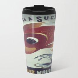 Vintage poster - Keep Your Mouth Shut Travel Mug