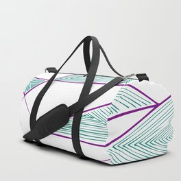 Psychedelic triangles perspective Duffle Bag