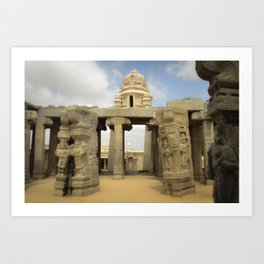 Temple-India Art Print