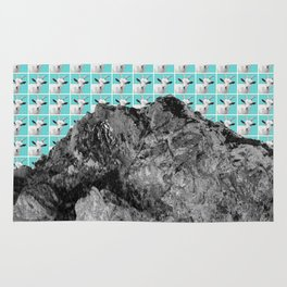 Goats over the mountain Rug