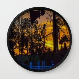 Surf City Equestrian Sundown Wall Clock