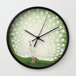Marvellous Peacock - Vintage Japanese woodblock print Art Wall Clock