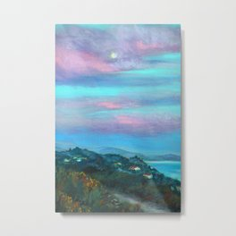 Moonrise Over El Matador Metal Print