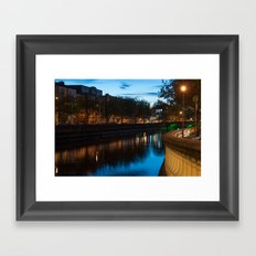 Dublin Fair City Framed Art Print