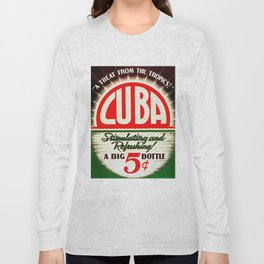Vintage Cuba Soft Drink Poster Long Sleeve T-shirt