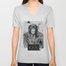 Monkey Mugshot Unisex V-Neck