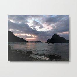 El Nido Sunset Landscape Metal Print