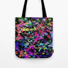 Paint Splatter 1 - Black Tote Bag