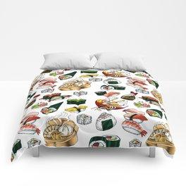 Sushi White Comforters
