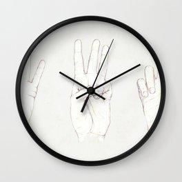 Three Threes Wall Clock
