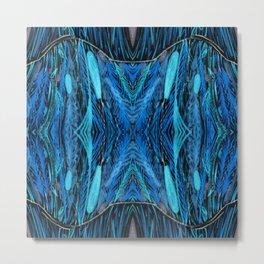 Night Grass Woven Abstract by Amanda Laurel Atkins Metal Print