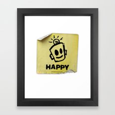 The Happy Sticker Framed Art Print
