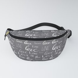 Words of Love // Smoky Grey Fanny Pack