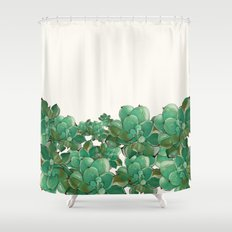 Fresh Succulents Shower Curtain
