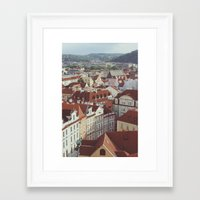 prague Framed Art Prints featuring prague by Karen