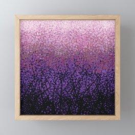 Plum Blossom Tree Grove Framed Mini Art Print