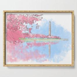 Cherry Blossom - Washington Monument Serving Tray