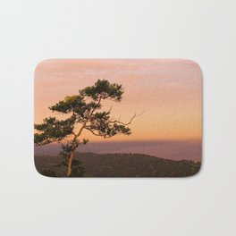 Lone Tree at Dusk Bath Mat