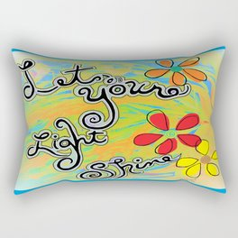 Let Your Light Shine Matthew 5:16 Rectangular Pillow