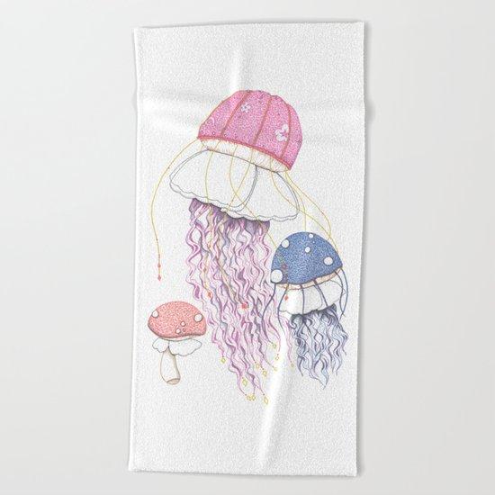 Jelly Shrooms Beach Towel