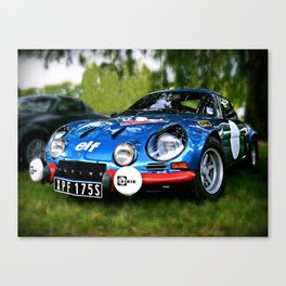 "The Alpine A110 ""Berlinette"" Canvas Print"