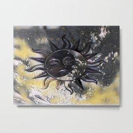 Day Dream Sun Moon Metal Print