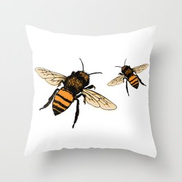 Just Bees! Throw Pillow