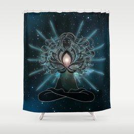 Emanate love Chakra Shower Curtain