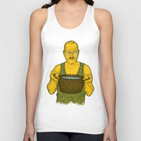cook Tank Tops featuring Cook (green) by Lime