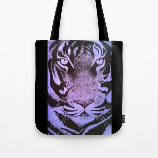 Be a Tiger (Purple) Tote Bag