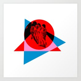red duck Art Print