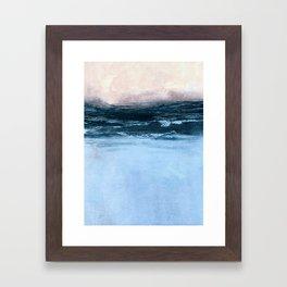 misty sunrise Framed Art Print