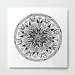 Table Ronde Metal Print