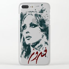 Queen of the arabic music fairuz Clear iPhone Case