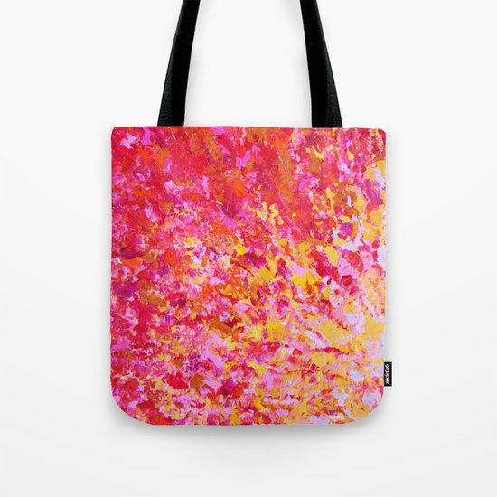 ROMANTIC DAYS - Lovely Sweet Romance, Valentine's Day Sweetheart Pink Red Abstract Acrylic Painting Tote Bag