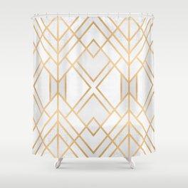 Golden Geo 2 Shower Curtain