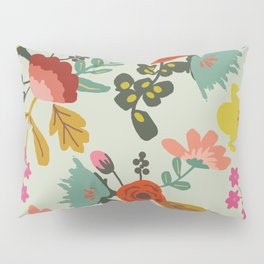 Muted Tone Floral Pillow Sham