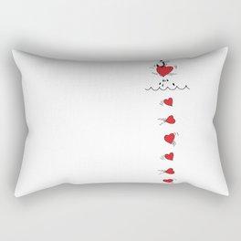 Corazones Pescados Rectangular Pillow