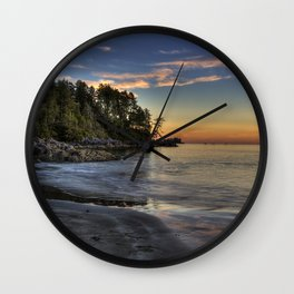 Sunset of Seclusion Wall Clock