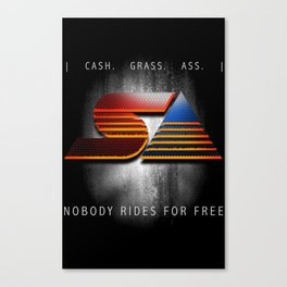 gas station blockbuster Canvas Print