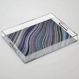Mild Wavy Lines IV Acrylic Tray