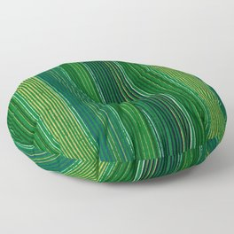 Green Vertical Stripes Japanese Shima-Shima Pattern Floor Pillow