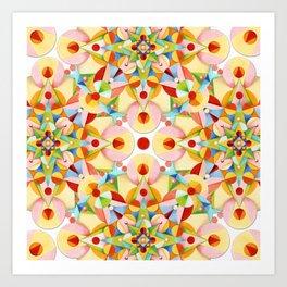 Pretty Pastel Carousel Art Print