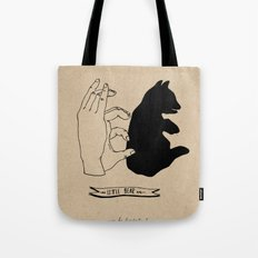Hand-shadows Tote Bag